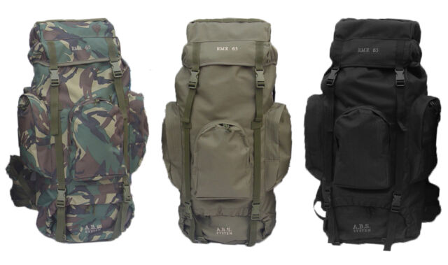 NEW 65L ARMY MILITARY STYLE HIKING OUTDOOR BACKPACK RUCKSACK BERGEN DAYPACK
