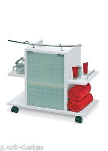 waschbeckenunterschrank leon wei auf rollen neu ebay. Black Bedroom Furniture Sets. Home Design Ideas