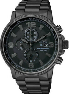 Citizen-CA0295-58E-Mens-Watch-Black-Stainless-Steel-Eco-Drive-Chron-Black-Dial
