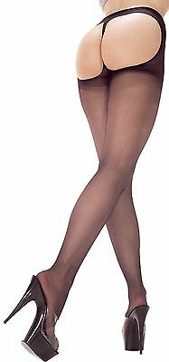 Sexy Red or White Lycra Sheer Thong Back Nylon Pantyhose One Size Music Legs 337