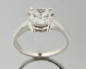 Solid-14k-White-Gold-Solitaire-2ct-CZ-Engagement-Ring
