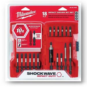 Milwaukee-18-Piece-Shockwave-Impact-Driver-Bit-Set-48-32-4403-NEW