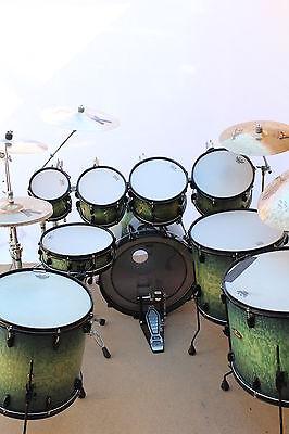 Pearl Masterworks Artisan Series Drum Kit - Blue Tamo Ash Finish *** NEW #1