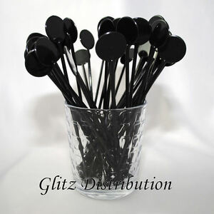 7-034-BLACK-COCKTAIL-STIRRERS-SWIZZLE-STICKS-PACK-OF-10-25-50-100-250-OR-500