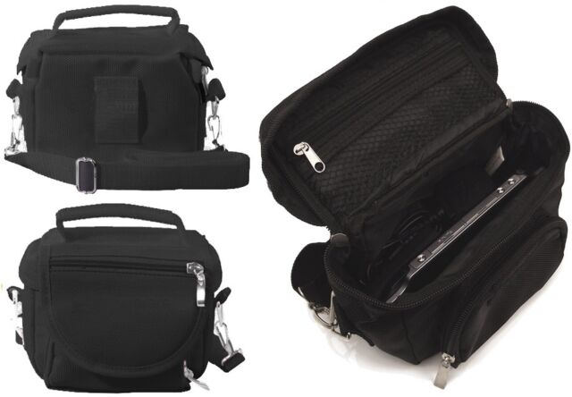 BLACK LUXURY TRAVEL BAG CARRY CASE FOR PS VITA WITH SHOULDER STRAP