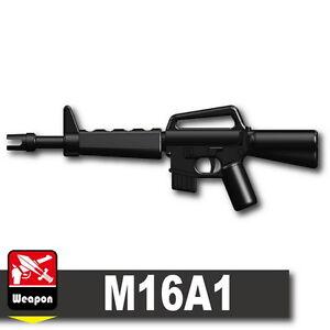 Custom-Assault-Rifle-Black-M16A1-gun-compatible-with-LEGO-minifigures