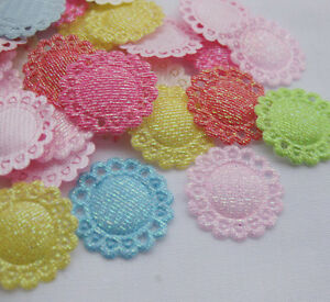 100x-Cute-Padded-Flower-Appliques-baby-craft-mix-A864