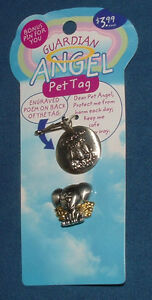 Guardian Angel Pet Tag for Dog Plus Lapel Pin for You - Free Shipping!
