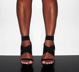 Womens-5-Strappy-High-Heel-Platform-Black-Sandal-ER-Generation-Melisa-43