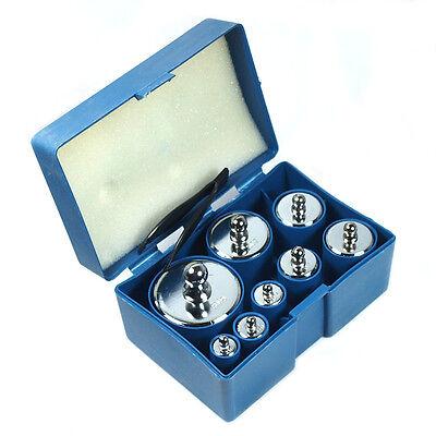 8 pcs calibration weight set 10g 20g 50g 100g 200g 500g -- 1000g  total weight