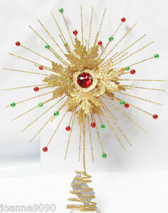 GISELA-GRAHAM-TRADITIONAL-GOLD-WIRE-CHRISTMAS-XMAS-TREE-TOPPER-DECORATION