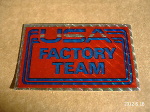 1 AUTHENTIC NOS USA FACTORY TEAM FRAME STICKER  DECAL  AUFKLEBER - <span itemprop=availableAtOrFrom>S.E. England, United Kingdom</span> - Any item may be returned in unused and original condition for a refund within 14 days of receipt. Terms and Conditions; In the event of making a return the following conditions will  - S.E. England, United Kingdom