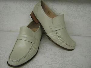 Men-Grenson-Watford-Ivory-Leather-Moccasin-Smart-Slip-Ons