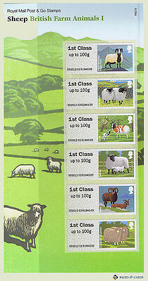 2012 Farm Animals I (1) Sheep Post and Go Stamps in Presentation Pack PPP6