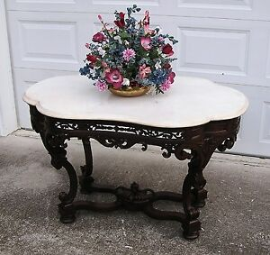 EXQUISITE-VICTORIAN-MEEKS-MARBLE-TOP-CENTER-TABLE