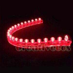 4x-24CM-PVC-LED-CAR-TRUCK-FLEXIBLE-NEON-LIGHT-STRIP-RED