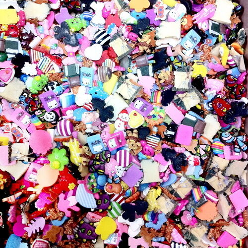 50g. Mix Lot Assorted Scrapbooking Flatback Button B014