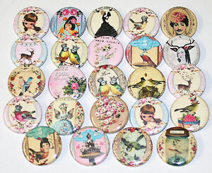 CUTE-WHIMSICAL-BADGES-x-24-Button-Badge-Bulk-Wholesale-Lot