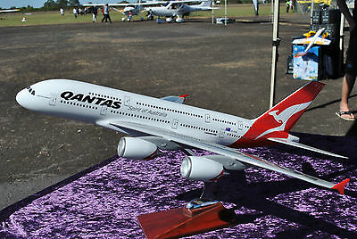 NEW 47cm Qantas A380 Fibreglass Resin Model Plane  Airplane