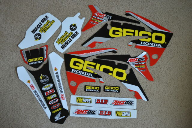 FACTORY CONNECTION GEICO TEAM GRAPHICS HONDA CRF250R CRF250  2010 2011 2012 2013