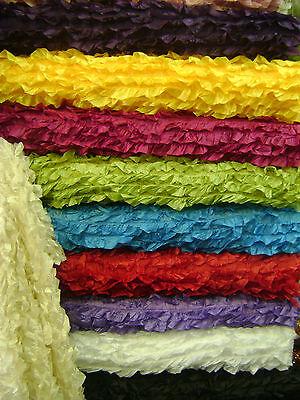 Taffeta Fabric 3D with Fancy Ruffle Design Taffeta drop - Item # 541