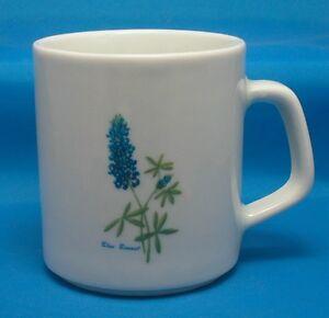 Blue-Bonnet-Porcelain-Coffee-Mug-Tea-Cup-by-Pozanni-Brazil-Texas-Blue-Bonnet