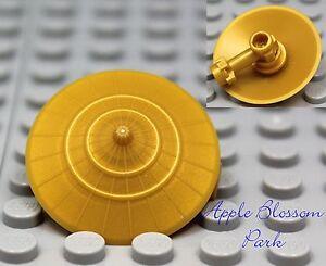 NEW-Lego-GOLD-CIRCLE-SHIELD-Minifig-Battle-Armor-Weapon-Ninjago-Castle-Kingdoms