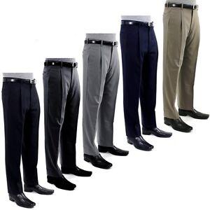 Giorgio-Cosani-Men-s-Trousers-Single-Pleat-Classic-Dress-Slacks-100-Wool-Pants