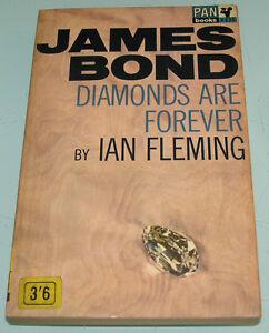EUC-JAMES-BOND-007-DIAMONDS-ARE-FOREVER-Pan-Paperback-60-039-s-BOOK-by-IAN-FLEMING