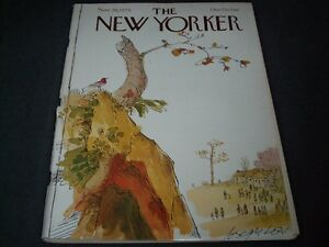 1979-NOVEMBER-26-NEW-YORKER-MAGAZINE-BEAUTIFUL-FRONT-COVER-FOR-FRAMING-C-249