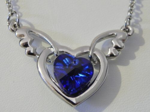 Pendentif Coeur Ailes Ange Cupidon Neuf Saint Valentin Couleur au choix Heart ST