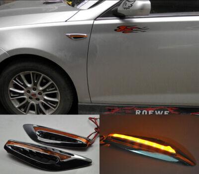 2x Amber LED Car Fender Side Indicators turn Signal Panels lights