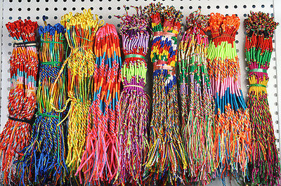 BULK 50Pcs Jewelry Lots Colorful Braid Friendship Cords Strands Bracelets
