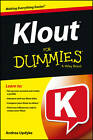 Klout For Dummies by Andrea Updyke (Paperback, 2013)