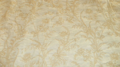 Off White Cream Flower Print Brocade Upholstery Fabric 1 Yd R631