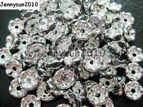 100Pcs Czech Crystal Rhinestone Wavy Rondelle Spacer Beads 4mm 5mm 6mm 8mm 10mm