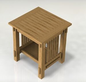 Mission Style End Table Woodworking Paper Plans | eBay