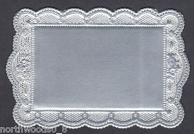 DOILEY  SILVER FRAME LABEL PAPER CRAFT ALTAR FOIL DECORATIVE DRESDEN GERMANY ART