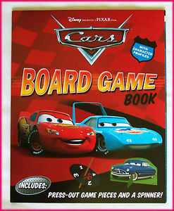 DISNEY-CARS-Awesome-BOARD-GAME-BOOK-Lightning-McQueen-RACE-TRACK-Fold-out-NEW