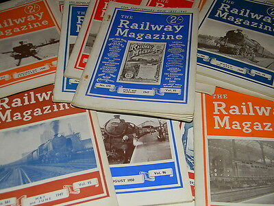 Railway Magazine, 1946 to 1950, various issues