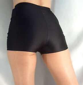 Black stretch fabric High waisted design Raw hems Button and zip fastening Our model wears a UK 8 and is cm/5'9'' tall.
