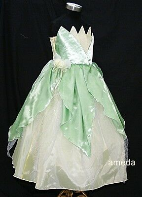 Girls Deluxe Tiana Frog Costume Princess Dress Birthday Party Fancy Xmas 3-4Y & Costumes For My LIttle Princess collection on eBay!