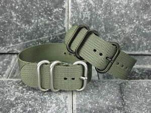 New-20mm-Grey-Nylon-Diver-Strap-3-Rings-Watch-Band-Military-ZULU-Maratac-20