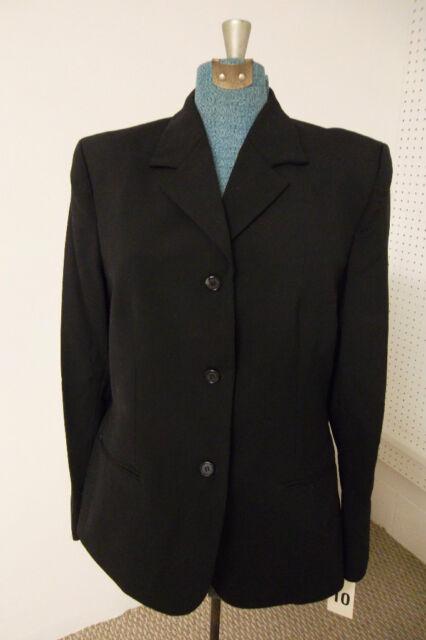 Womens Blazer Black Executive Cintas Jacket 10  26   28 H NWT New