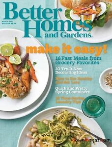 Better homes and gardens bhg magazine march mar 2011 11 16 make it easy meals March better homes and gardens