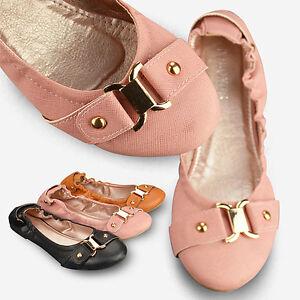 Hottest-Stlye-Comfortable-Flats-Womens-Ballet-Shoes-Pink-Black-Khaki-Pumps-B23Z