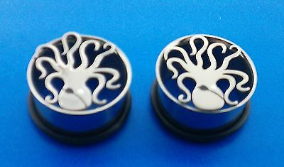 New Steelcut Octopus Single Flared Metal Plugs