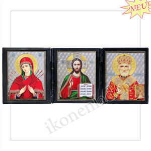 Ikone-Triptychon-Siebenpfeilige-Jesus-Christus-Hl-Nikolaus-6-3