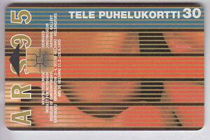 100% Vrai Europe Telecarte / Phonecard .. Finlande 30u Art Moderne Chip/puce