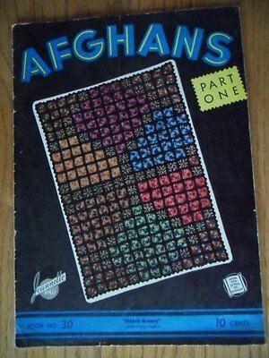 Afghans Book #30 1941 SC Ombre Granny Navajo Hexagon Patterns
